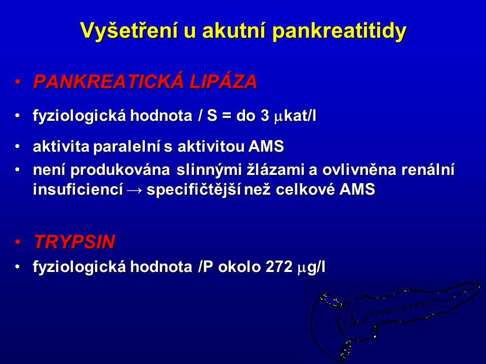 Vyšetření u akutní pankreatitidy