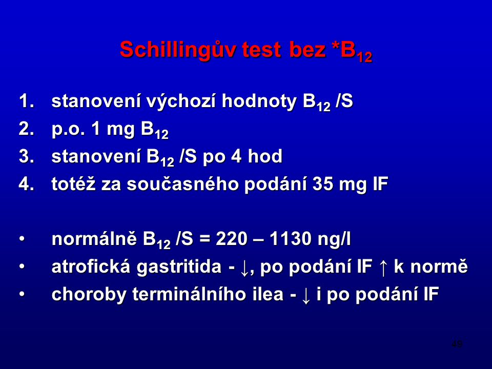 Schillingův test bez *B12