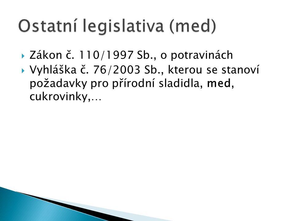 Ostatní legislativa (med)