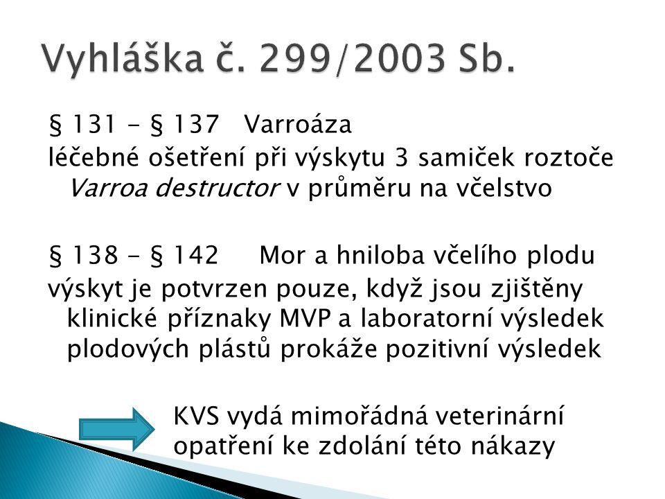 Vyhláška č. 299/2003 Sb.