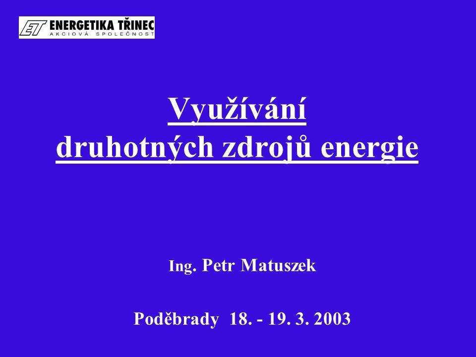 Využívání druhotných zdrojů energie