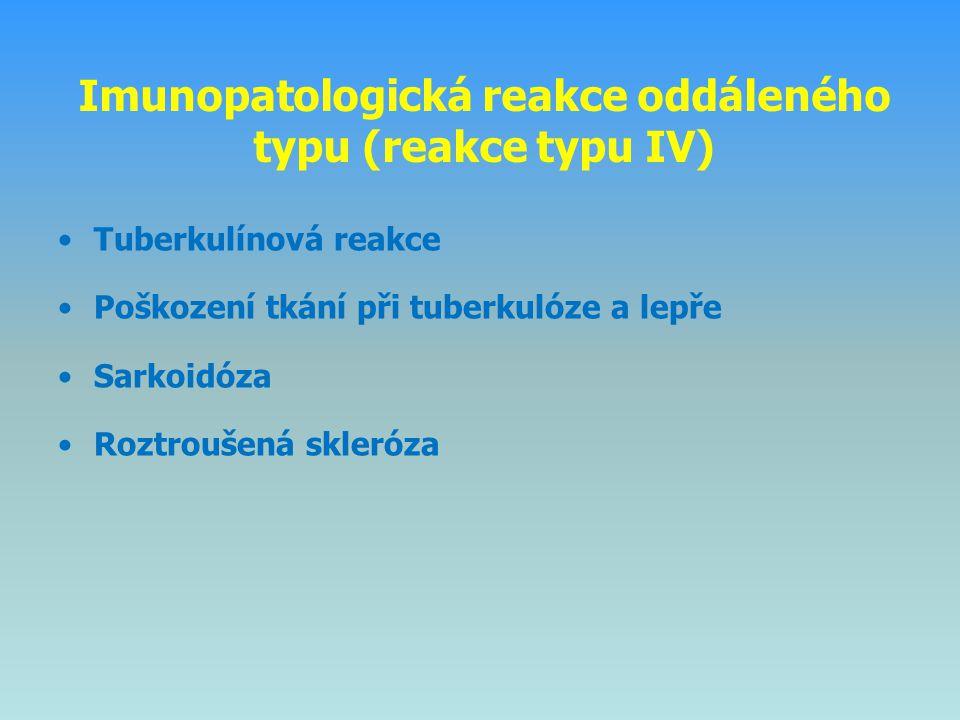 Imunopatologická reakce oddáleného typu (reakce typu IV)