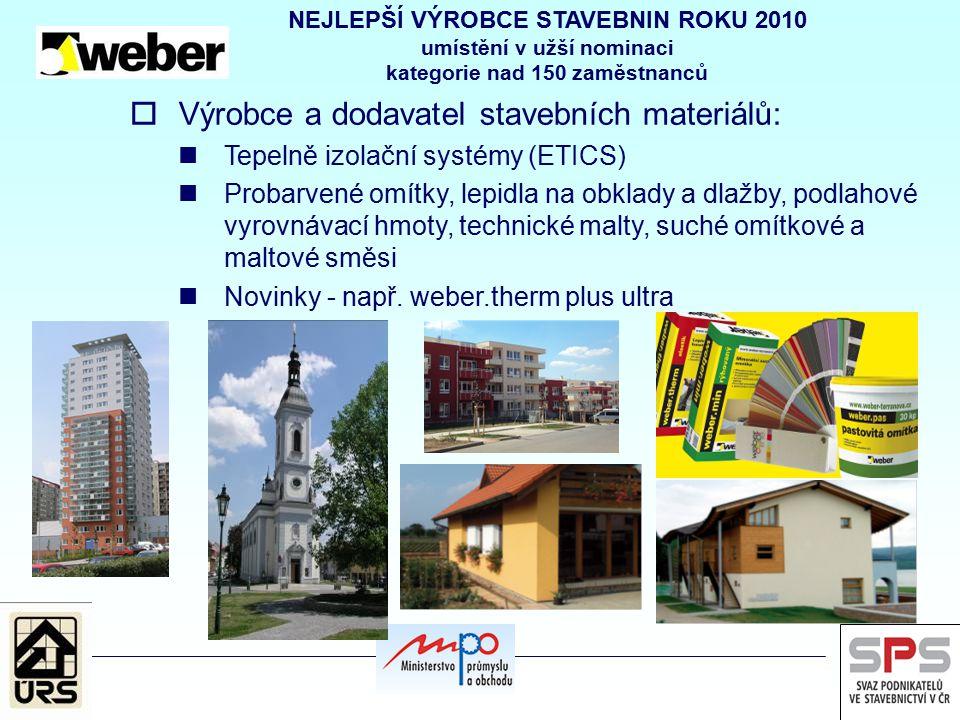 Výrobce a dodavatel stavebních materiálů: