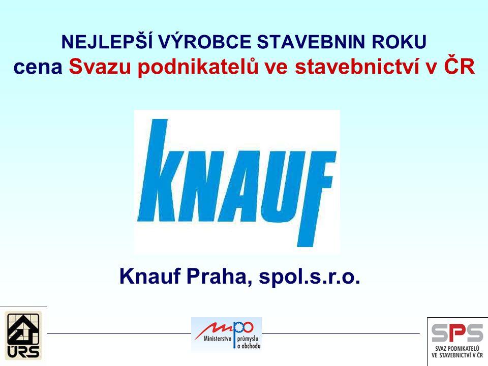 NEJLEPŠÍ VÝROBCE STAVEBNIN ROKU cena Svazu podnikatelů ve stavebnictví v ČR