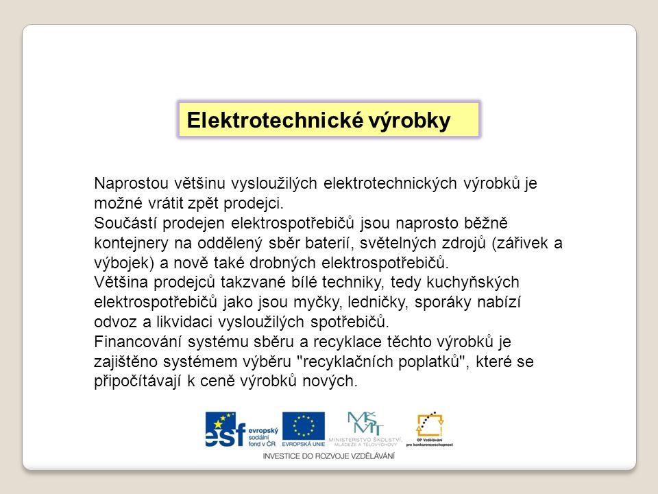 Elektrotechnické výrobky