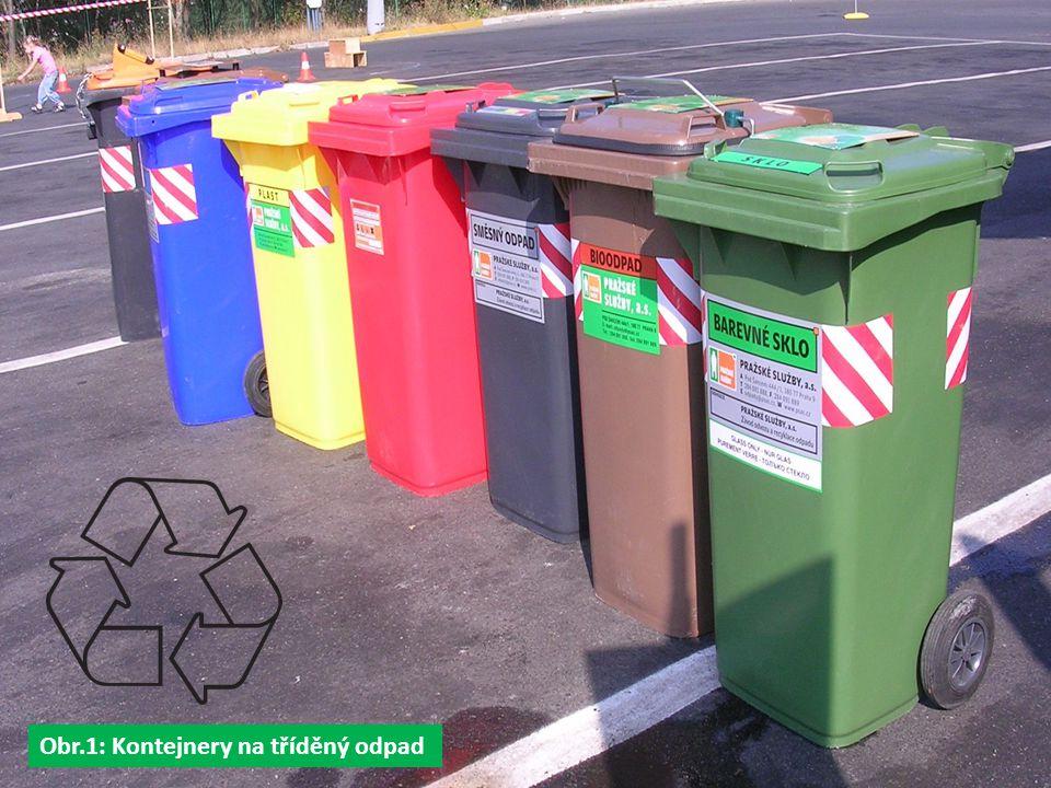 Obr.1: Kontejnery na tříděný odpad
