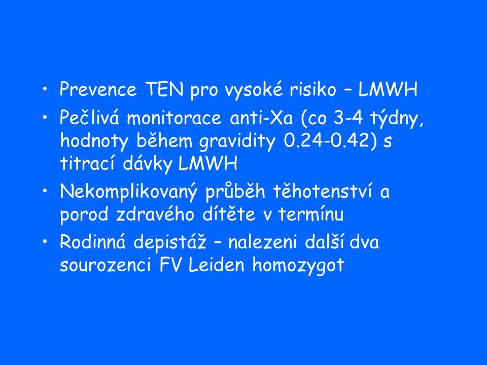 Prevence TEN pro vysoké risiko – LMWH