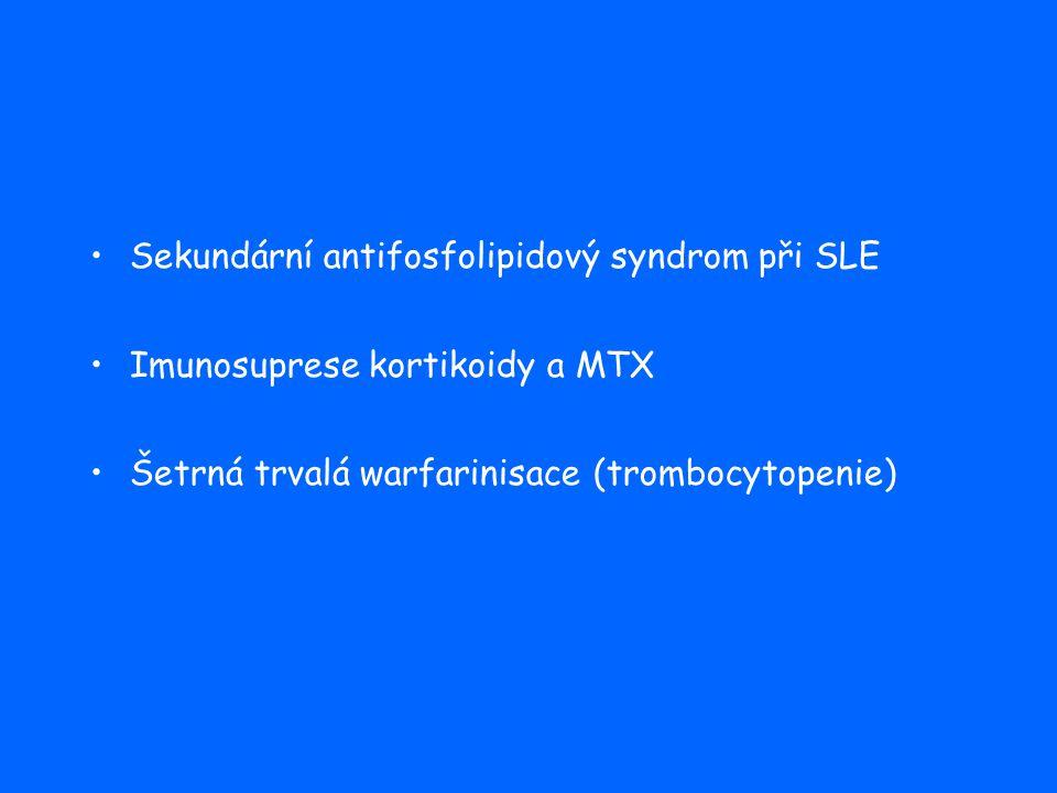Sekundární antifosfolipidový syndrom při SLE