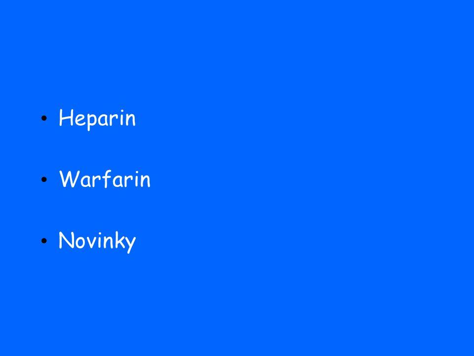 Heparin Warfarin Novinky