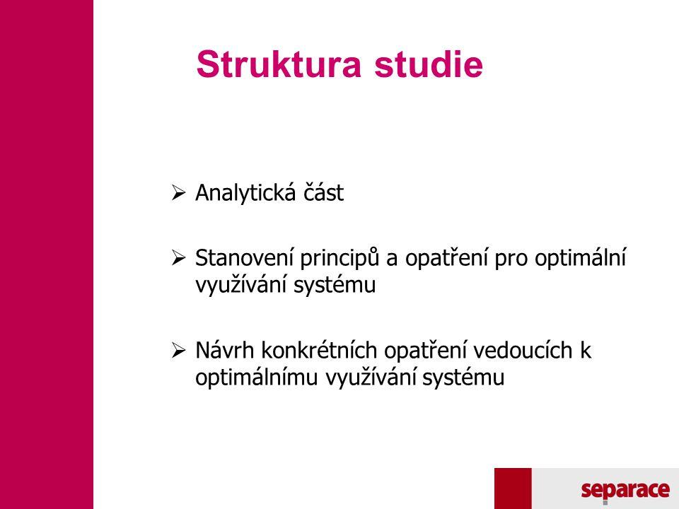Struktura studie Analytická část