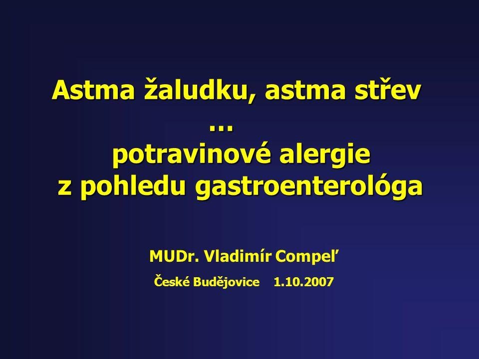 Astma žaludku, astma střev z pohledu gastroenterológa