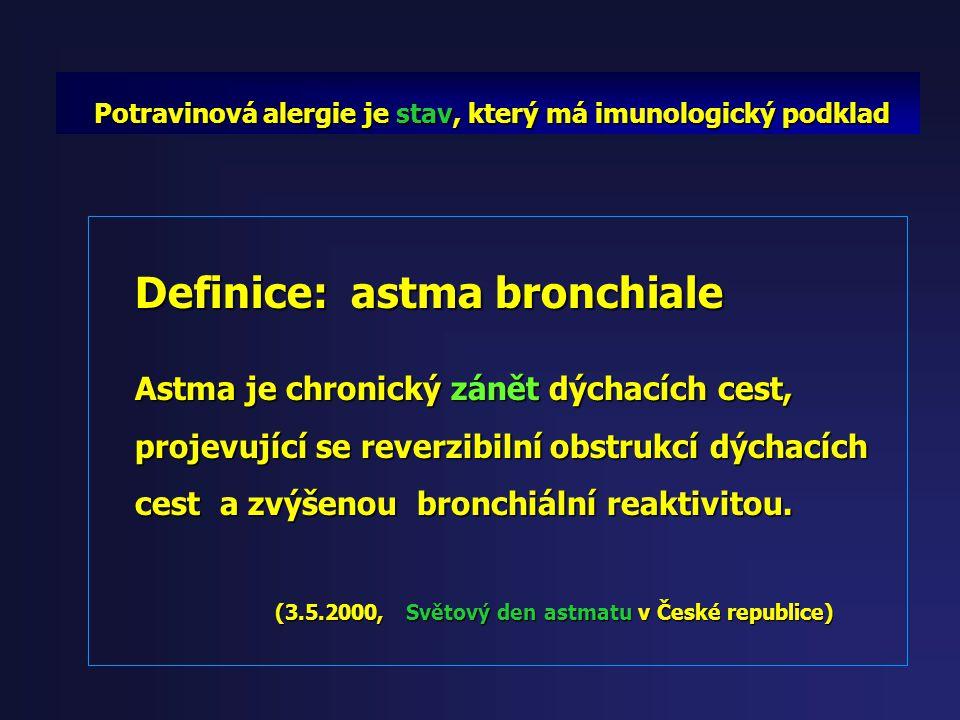 Definice: astma bronchiale