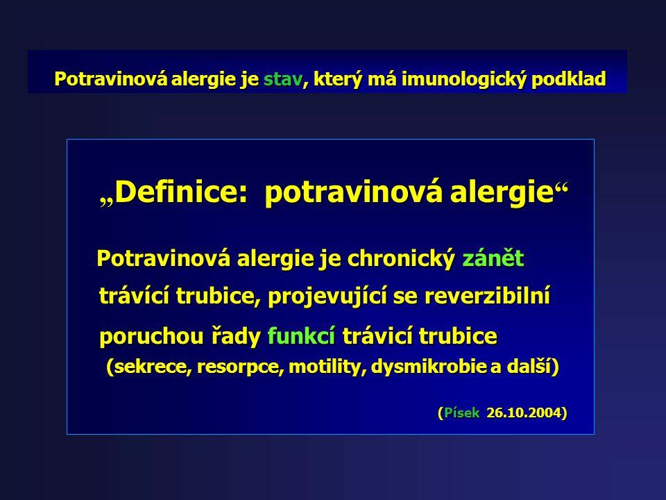 """""""Definice: potravinová alergie"""