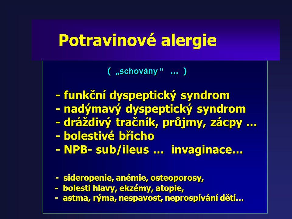 Potravinové alergie - funkční dyspeptický syndrom