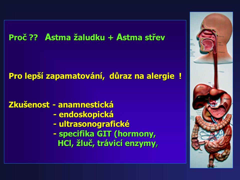 Proč Astma žaludku + Astma střev