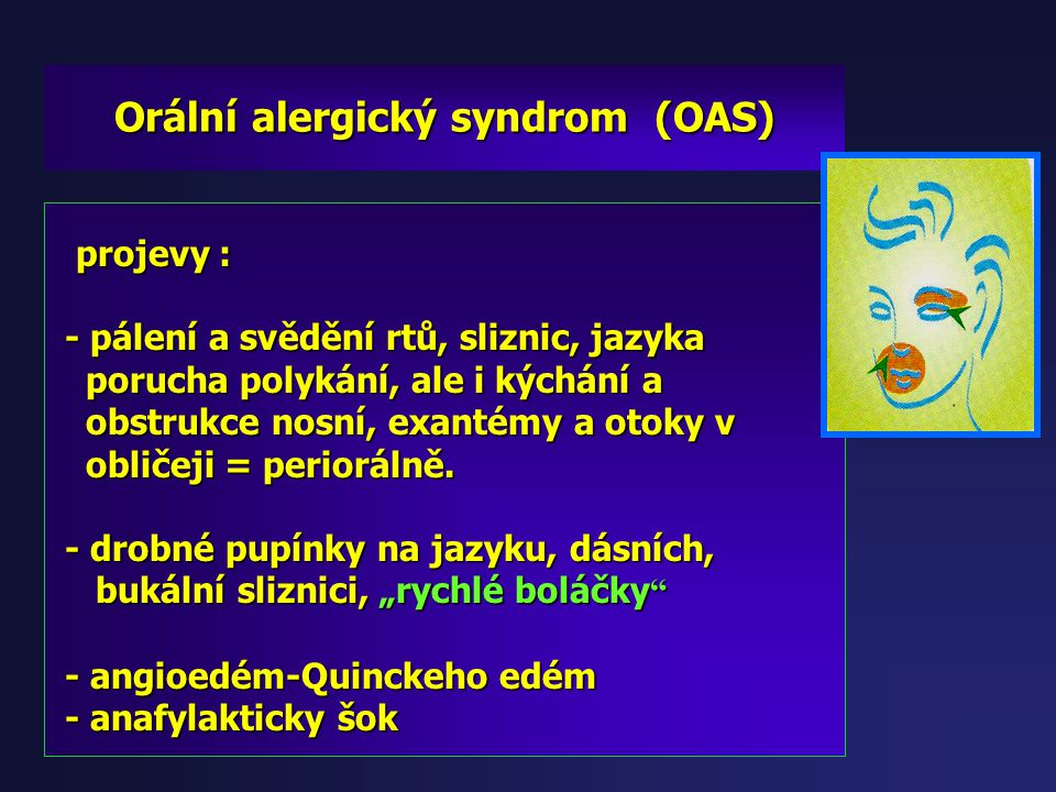 Orální alergický syndrom (OAS)