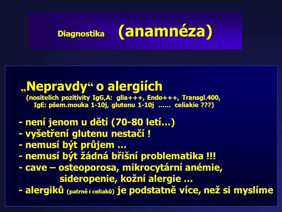 Diagnostika (anamnéza)