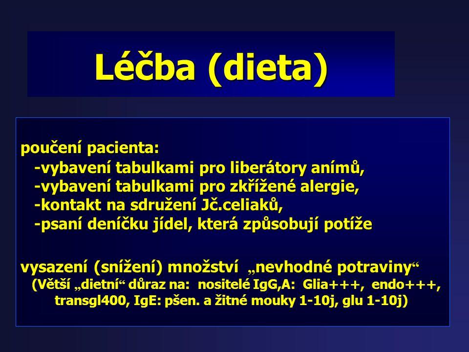 Léčba (dieta) poučení pacienta: