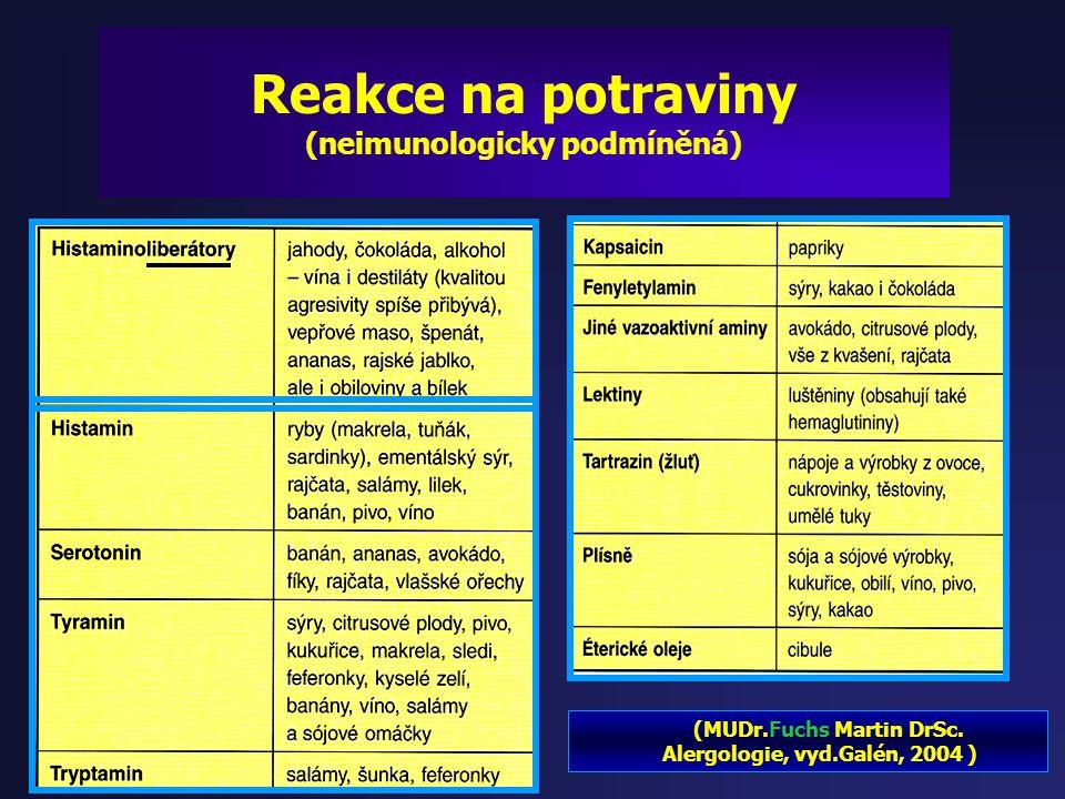 Reakce na potraviny (neimunologicky podmíněná)