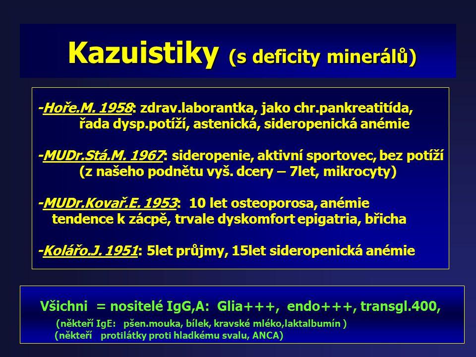 Kazuistiky (s deficity minerálů)