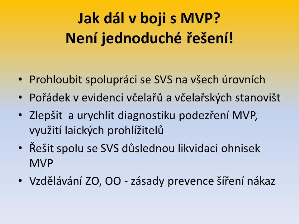 Jak dál v boji s MVP Není jednoduché řešení!