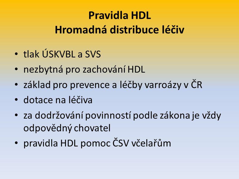 Pravidla HDL Hromadná distribuce léčiv