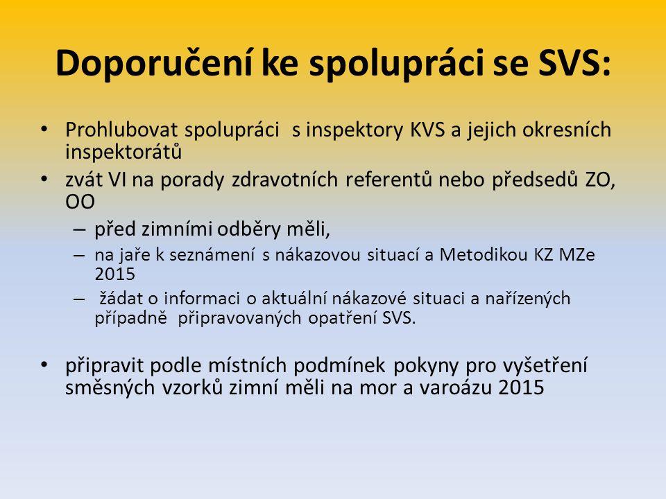 Doporučení ke spolupráci se SVS: