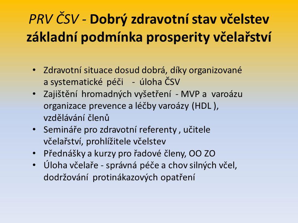 PRV ČSV - Dobrý zdravotní stav včelstev základní podmínka prosperity včelařství