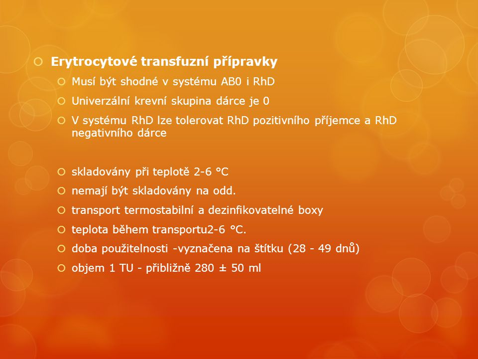 Erytrocytové transfuzní přípravky