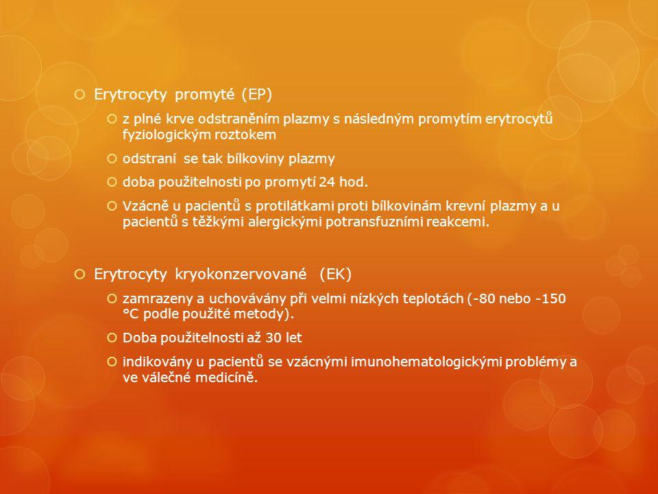 Erytrocyty promyté (EP)