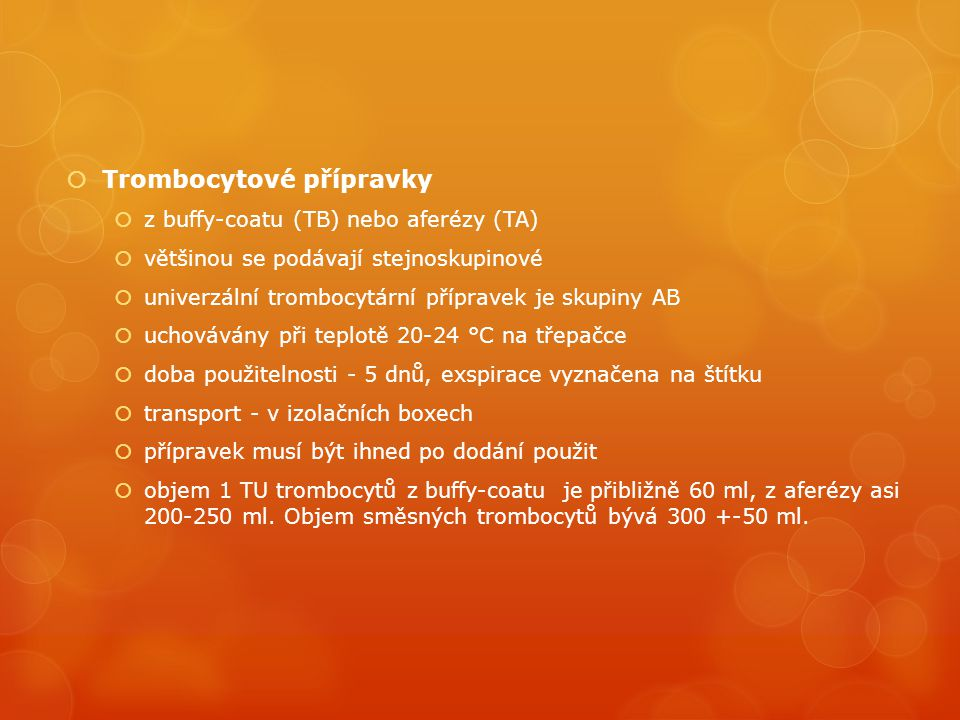 Trombocytové přípravky