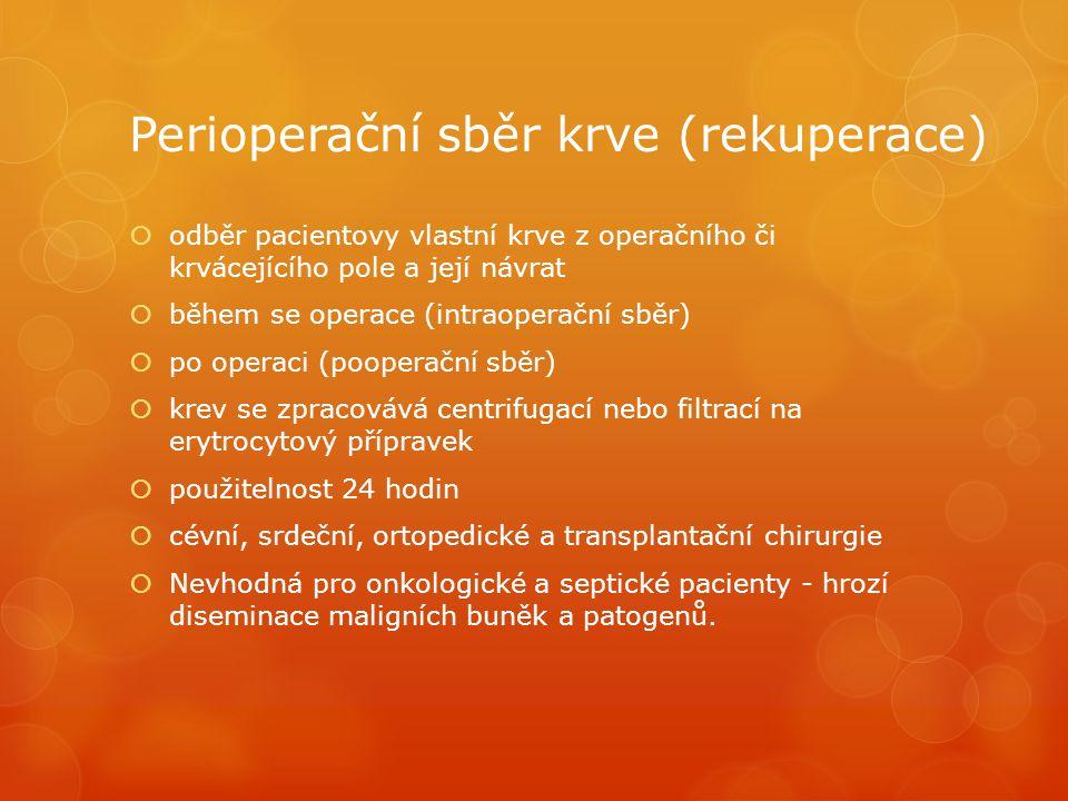 Perioperační sběr krve (rekuperace)