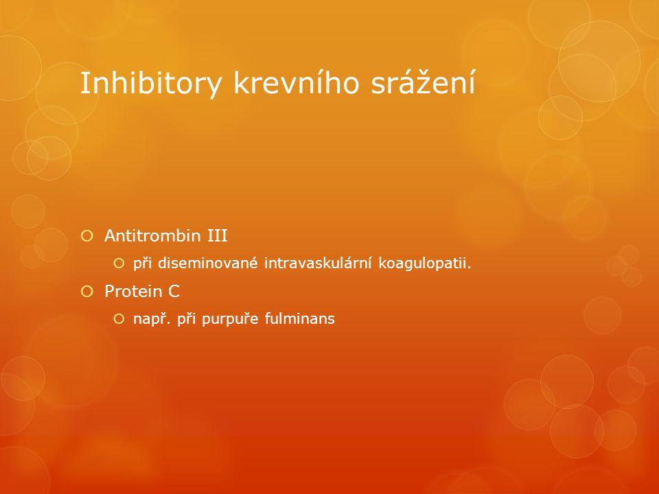 Inhibitory krevního srážení