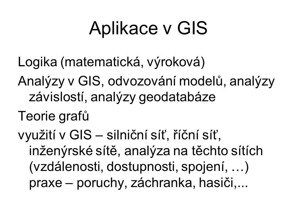 Aplikace v GIS Logika (matematická, výroková)