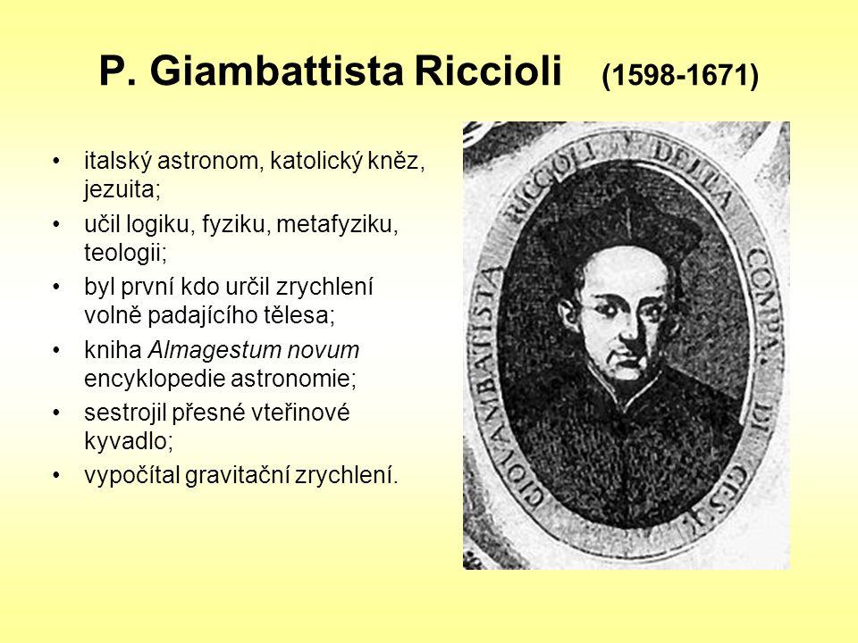 P. Giambattista Riccioli (1598-1671)