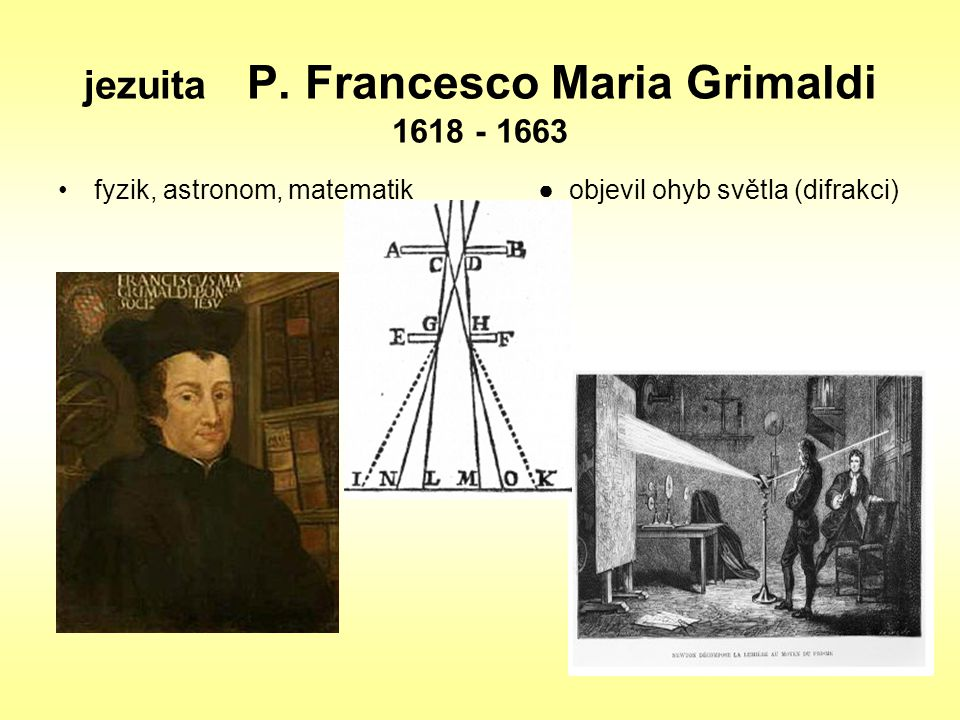 jezuita P. Francesco Maria Grimaldi 1618 - 1663
