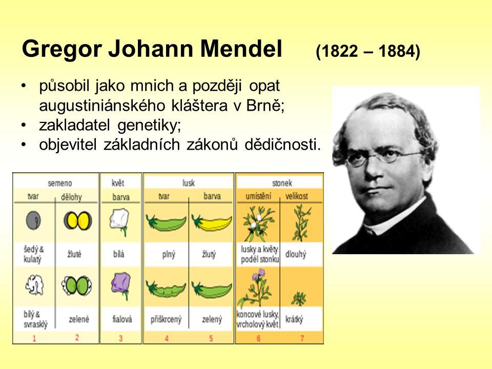 Gregor Johann Mendel (1822 – 1884)