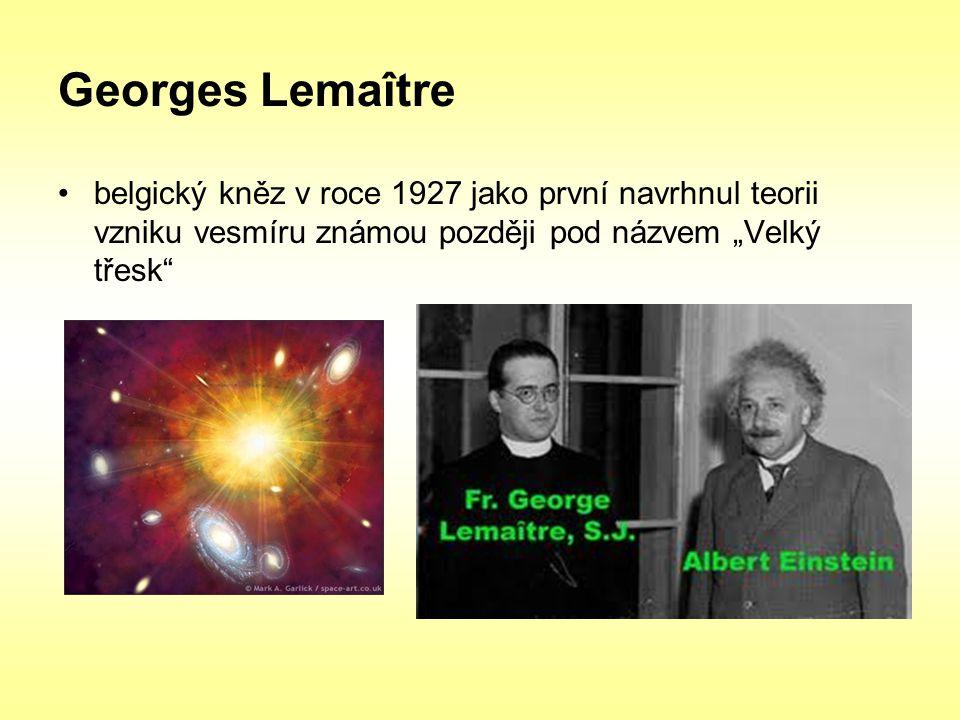 """Georges Lemaître belgický kněz v roce 1927 jako první navrhnul teorii vzniku vesmíru známou později pod názvem """"Velký třesk"""