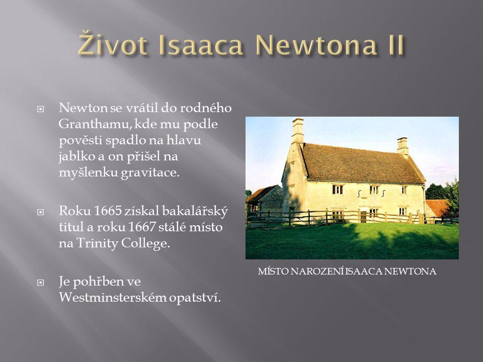 Život Isaaca Newtona II