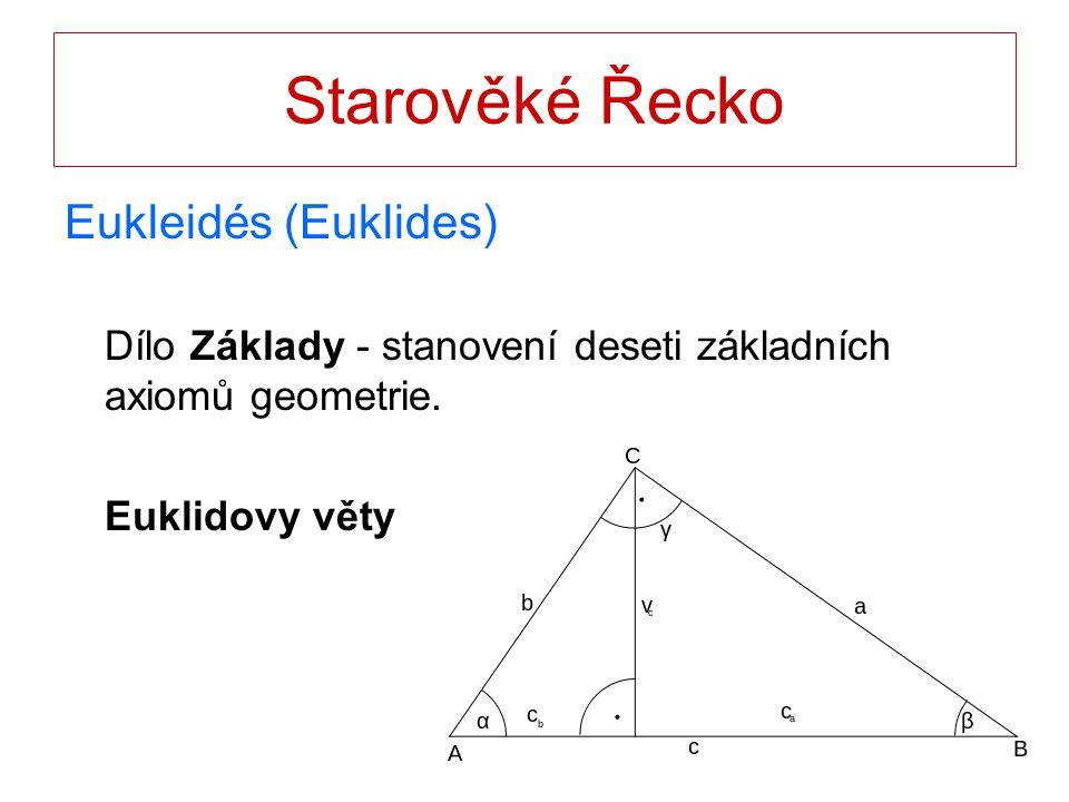 Starověké Řecko Eukleidés (Euklides)
