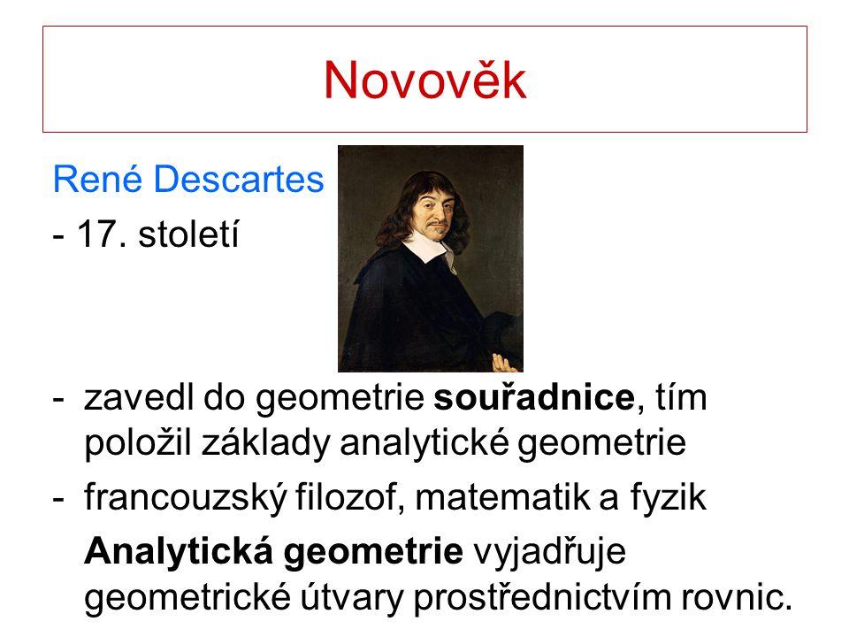 Novověk René Descartes - 17. století