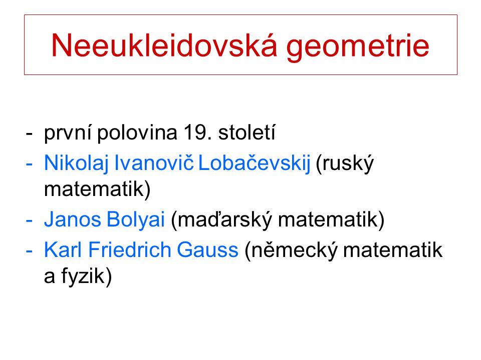 Neeukleidovská geometrie