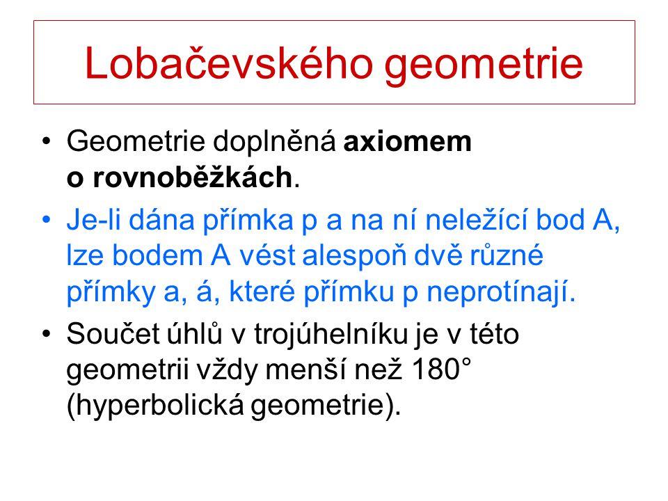 Lobačevského geometrie