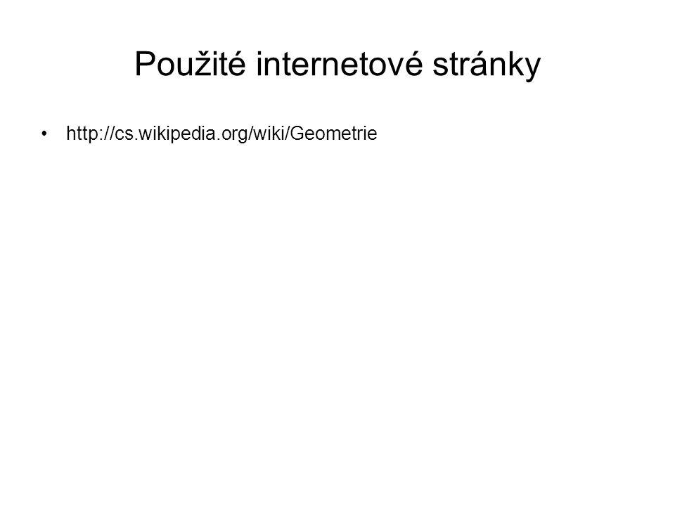 Použité internetové stránky