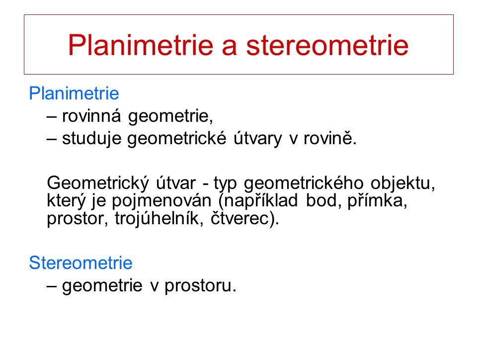 Planimetrie a stereometrie
