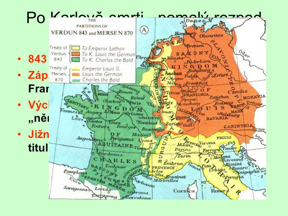 Po Karlově smrti - pomalý rozpad říše