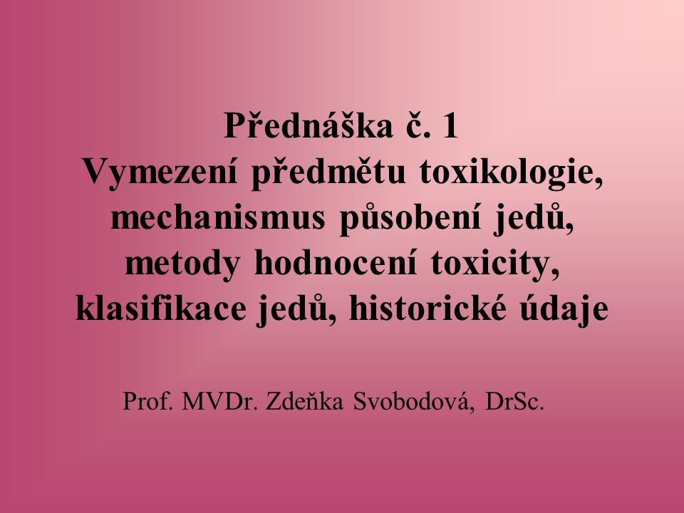 Prof. MVDr. Zdeňka Svobodová, DrSc.