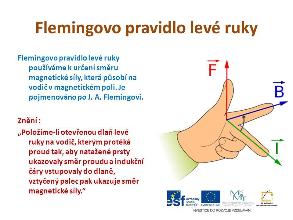 Flemingovo pravidlo levé ruky