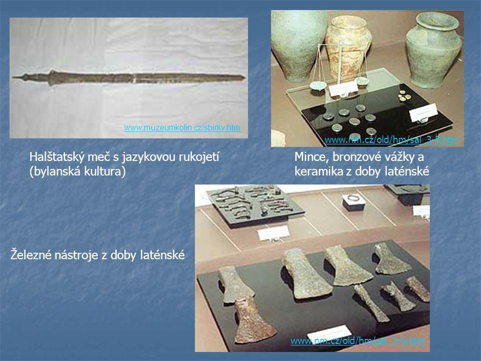 Halštatský meč s jazykovou rukojetí (bylanská kultura)
