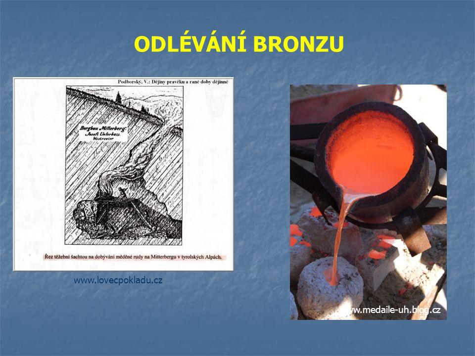 ODLÉVÁNÍ BRONZU www.lovecpokladu.cz www.medaile-uh.blog.cz